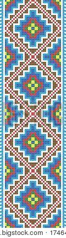 Vector Pattern Traditional Embroidery Cross-stitch