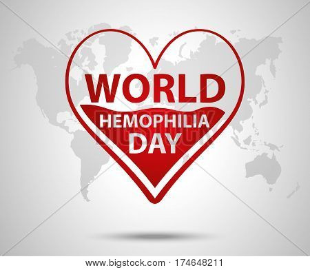 World Hemophilia Day Concept. Heart Makes Drop Counter Transfusion. Vector Illustration Eps 10.
