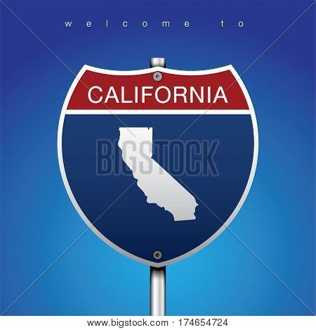 Sign Road America Style with California State