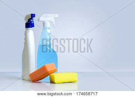 Washcloths For Cleaning And Spray Bottles.