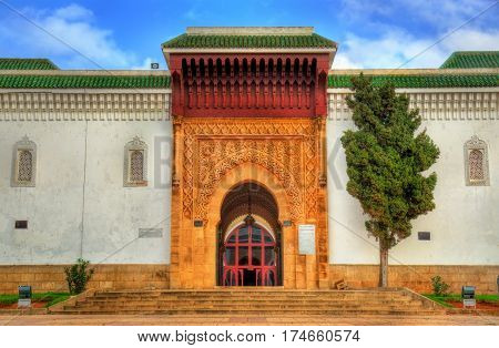 Assouna Mosque in Rabat, the capital of Morocco