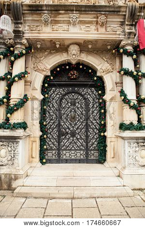 Door From Peles Castle From Sinaia, Romania