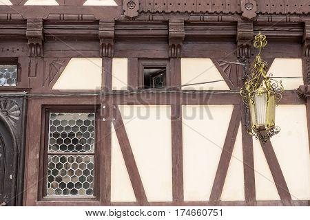 Details Of Pelisor Castle From Sinaia, Romania