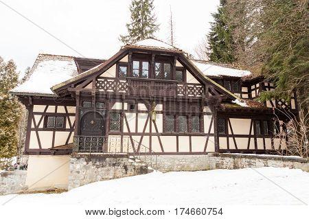 Summer House Of Pelisor Castle From Sinaia, Romania