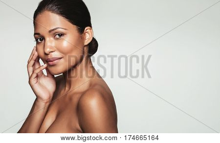 Pretty Young Woman With Healthy Skin
