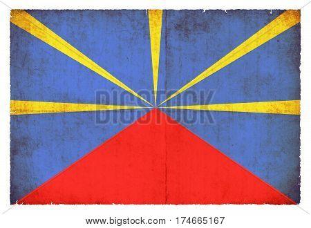 Grunge Flag La Reunion (france)