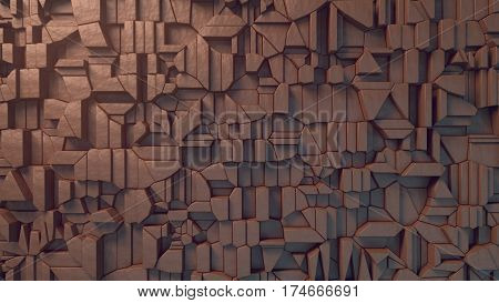 Abstract clay texture surface pattern. 3d rendering