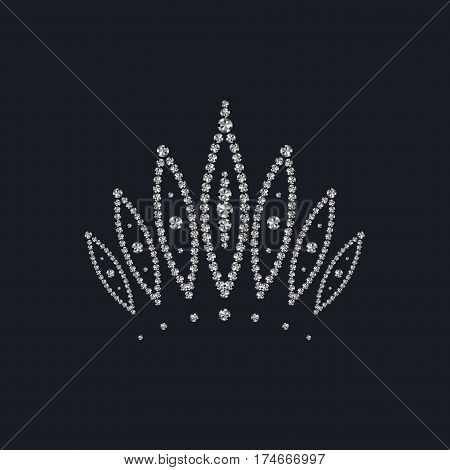 abstract crown (diadem) inlaid with diamonds. vector