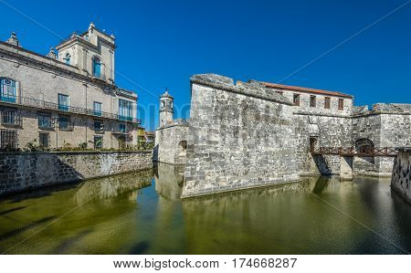 Castle of the Royal Force (Castillo de la Real Fuerza) fortress in Havana Cuba