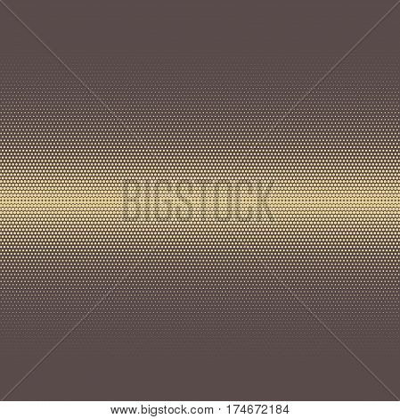 Geometric modern vector brown and golden pattern. Fine ornament with dotted elements. Geometric abstract pattern