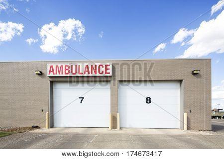 Parking Area Of Ambulance