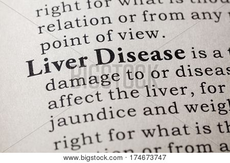 Fake Dictionary Dictionary definition of the word liver disease. including key descriptive words.