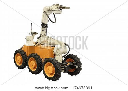 Self-propelled remote-controlled robots are widely used for the elimination of radioactive contamination