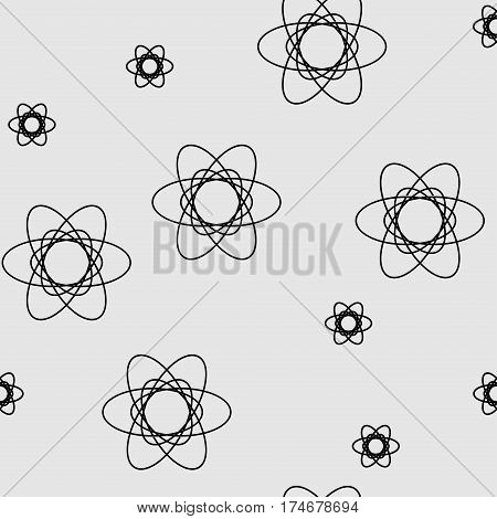 Seamless pattern with geometric shapes and symbols