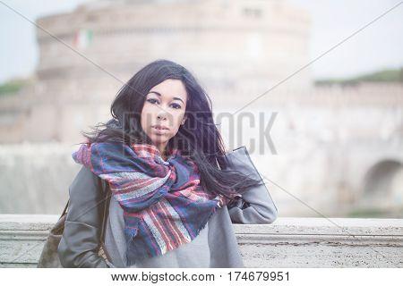 Beautiful Woman In Rome