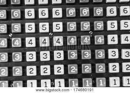 Keys of an Antique Cash Register or Adding Machine II