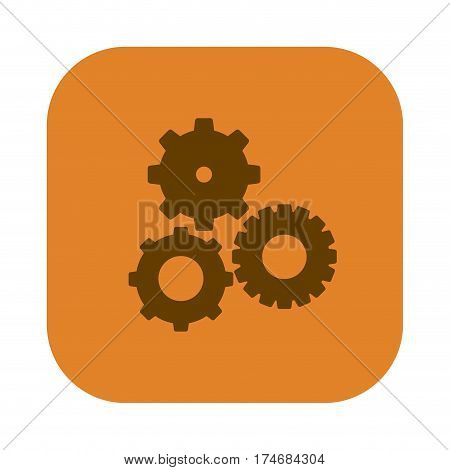 color square with pinions set icon vector illustration