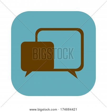color square with speech icon vector illustration