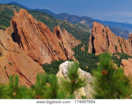Colorado Roxborough State Park Summer Blue Sky