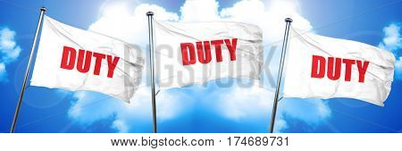 duty, 3D rendering, triple flags