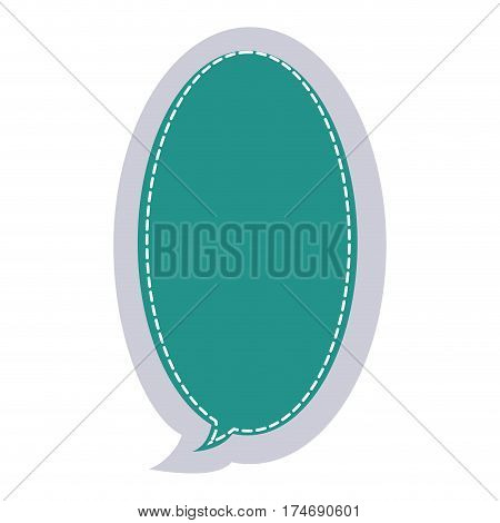 sticker large oval frame callout dialogue vector illustration