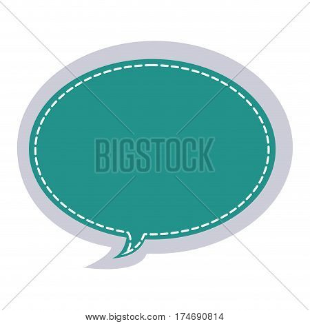 sticker oval bubble frame callout dialogue vector illustration