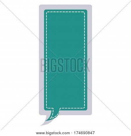 sticker large rectangle frame callout dialogue vector illustration