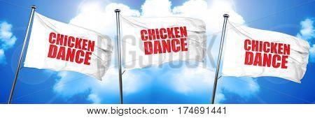 chicken dance, 3D rendering, triple flags