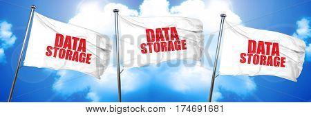 data storage, 3D rendering, triple flags