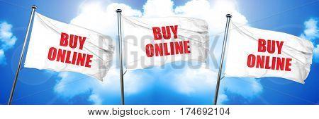 buy online, 3D rendering, triple flags