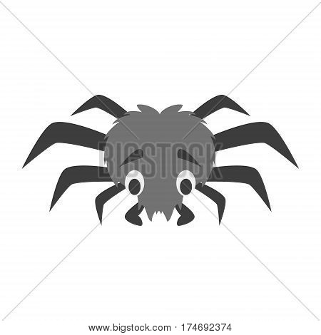 Cute spider in cartoon style vector illustration