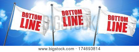 bottom line, 3D rendering, triple flags