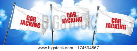 carjacking, 3D rendering, triple flags