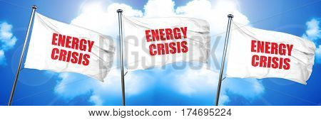 energy crisis, 3D rendering, triple flags