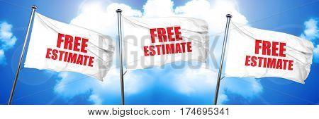 free estimate, 3D rendering, triple flags