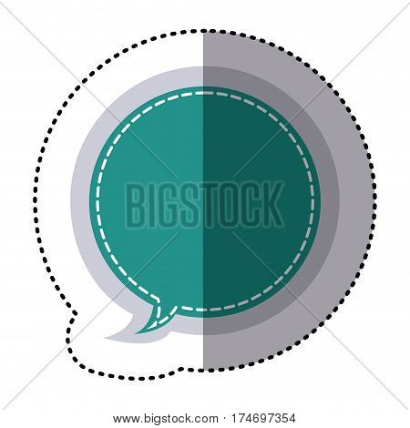 color sticker circular balloon frame callout dialogue vector illustration