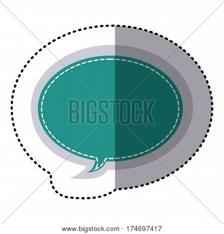 color sticker oval bubble frame callout dialogue vector illustration