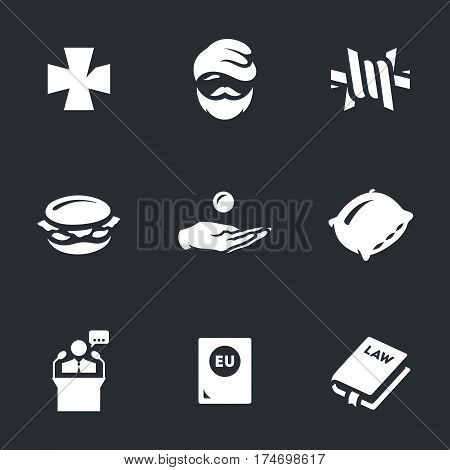 Cross, homeless, barbed wire, food, payment, pillow, president, passport, law.