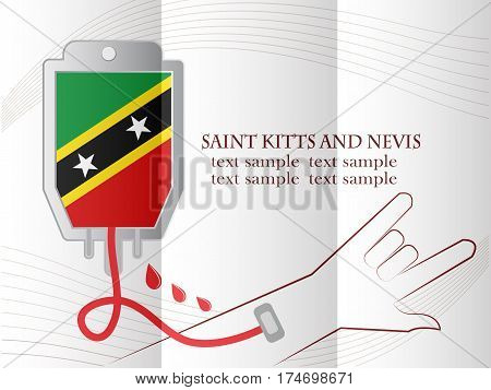 blood donation design made from the flag of Saint Kitts and Nevis conceptual vector illustration.