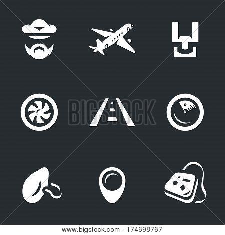 Pilot, plane, steering wheel, engine, runway, radar, mask, pointer, luggage.