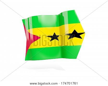 Arrow With Flag Of Sao Tome And Principe