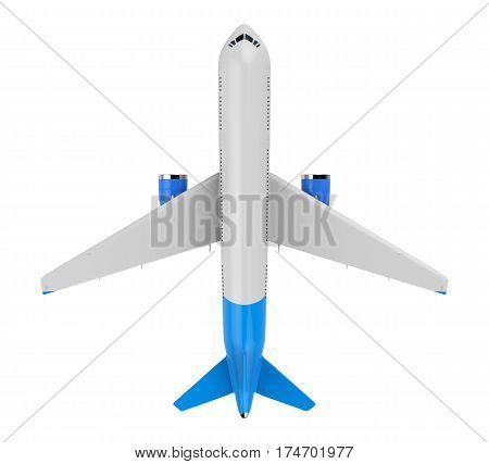 White And Blue Mock Up Plane