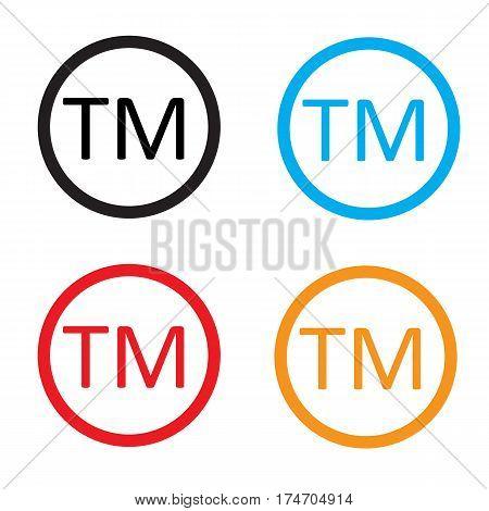 Trade mark sign. Trade mark icon on white background.