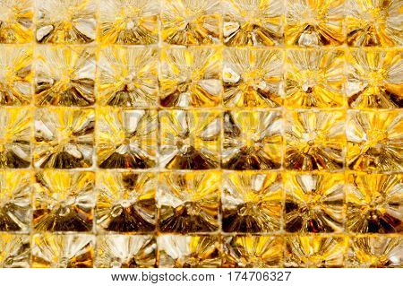 Geometric gold glittering seamless pattern background abstract