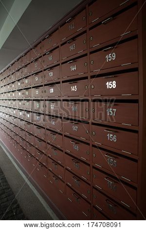 Locker post box or mail box background