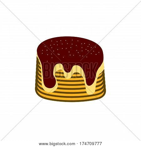Vector illustration of pancakes with jam for pancake day and breakfast