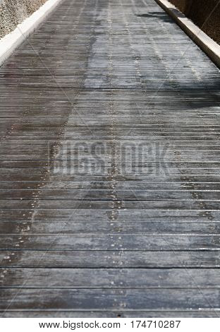 Wood Floor of Texture Pattern Monochrome Tone