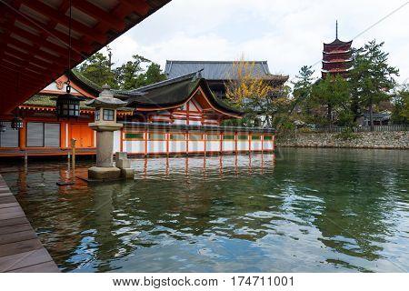Itsukushima Shinto Shrine in Japan