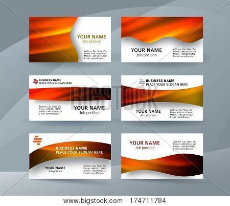 Business Card Layout Template Set29