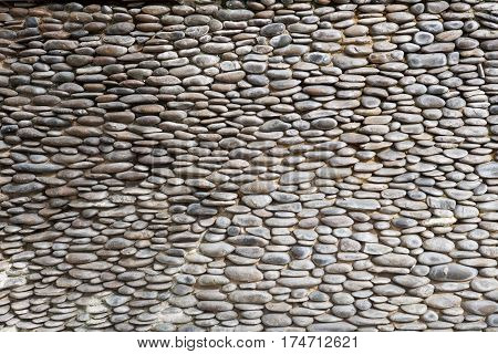 small stone or rock lined walls background